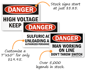 Danger Signs | Danger Safety Signs