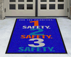 Hard Hat Required Safety Message Mats