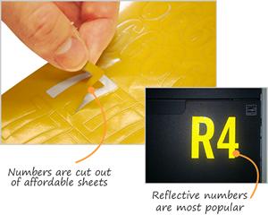 Die Cut Number & Letters