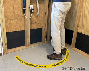 Do Not Block Electrical Panel Floor Decals