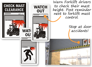 Dock Door and Check Door Clearance Signs  sc 1 st  MySafetySign.com & Dock Door Warning - Check Door Clearance Signs