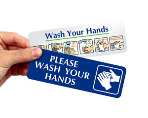 Durable Wash Your Hands Signs