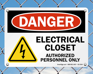 Electrical Closet Signs