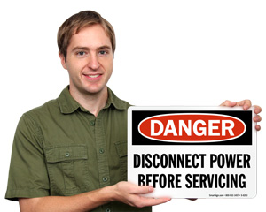 Electrical Service Instruction Signs