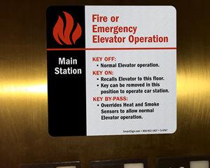 Elevator Main Station Signs