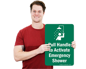 Emergency Shower Signs