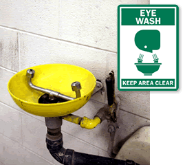 Eye Wash First Aid Signs