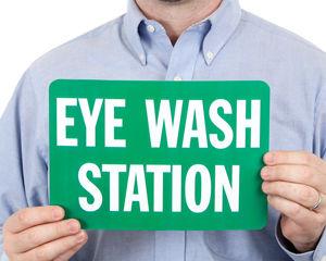 Eyewash station sign