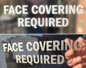 Face Covering Required Die Cuts Decals