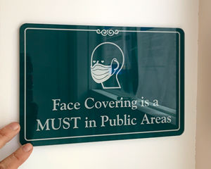 Face covering signs