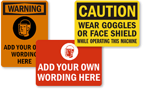 Face Shield Required Signs