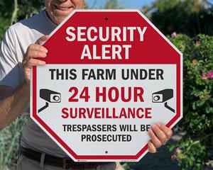 Do no trespassing sign for farm