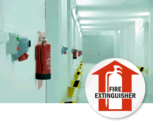 Fire Extinguisher Floor Signs