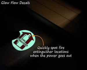Fire Extinguisher Glow Flow Decals