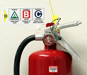 Fire Extinguisher Instruction Signs & Labels