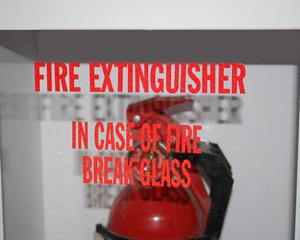 Break Glass in Case of Fire Labels