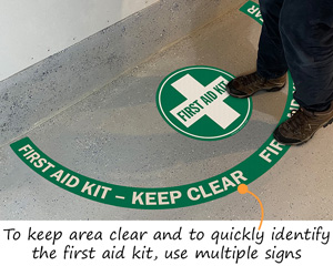 Projecting First Aid Kit Floor Decals