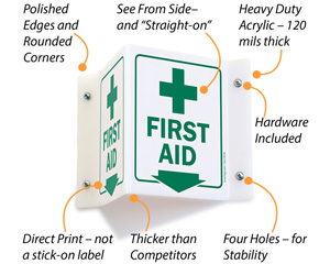 First Aid Projecting Sign