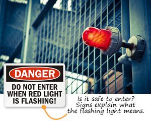 Do Not Enter - Flashing Light Signs
