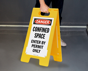 Danger Stand-Up Floor Signs