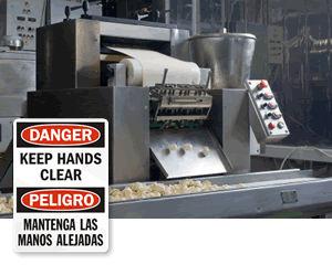 Bilingual Warehouse Signs