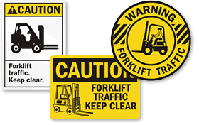 Forklift Area Signs | Keep Clear Signs