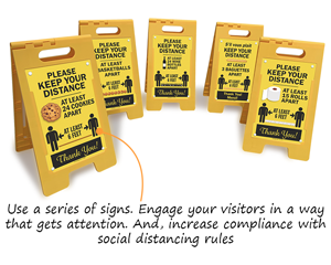 Fun social distancing signs