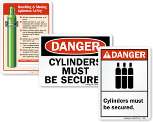 Secure Cylinders Signs