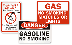 Gas No Smoking Signs