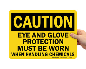 Gloves Required Sign