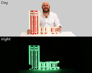 Glow-in-the-Dark Fire Extinguisher Signs