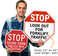 Go Slow Sound Horn Signs