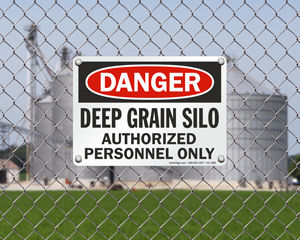 Grain Silo Safety Signs