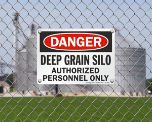 Grain Silo Safety Signs