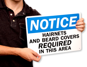 Hair Covering Required Signs