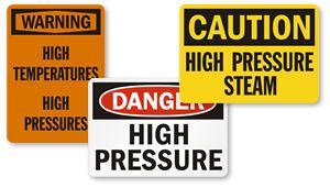 High Pressure Signs