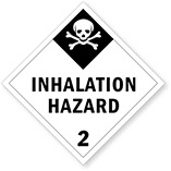 Class 2 Inhalation Hazard Placards