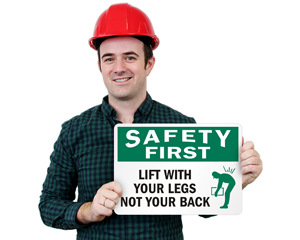 Lifting Instruction Safety Signs