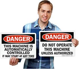Machine Danger Signs