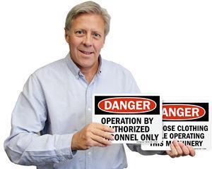 Machine Hazard Signs & Labels