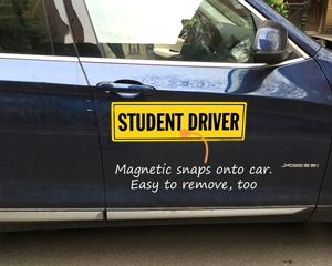 Magnetic student driver sign