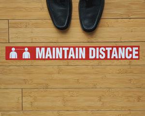 Social Distancing Footprint Floor Marking Tape
