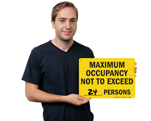 Maximum occupancy signs