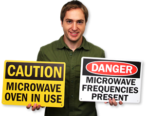 Microwave Warning Signs