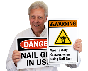 Nail Gun Safety Signs