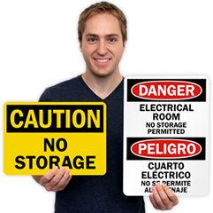 No Storage Signs