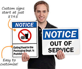 Notice Signs | Notice Safety Signs