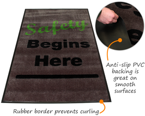 Anti-Slip Safety Message Mats