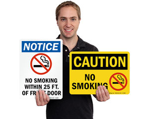 Osha No Smoking Signage