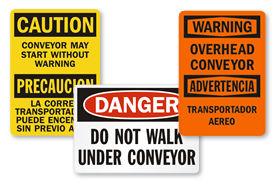 Overhead Conveyor Signs